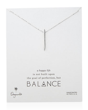 Balance Spiky Spear Necklace, Sterling Silver