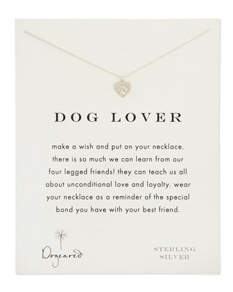 Dog Lover Silver Necklace