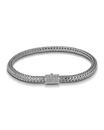 Classic Chain Silver Extra-Small Bracelet, Size 7