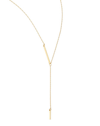 18k Gold Vermeil Petra Lariat Necklace