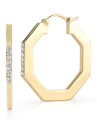 Victoria Large Octagonal Hoop Earrings