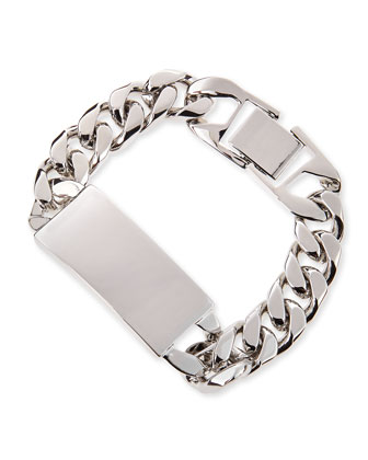 Alex Rhodium-Plated ID Bracelet, Silver