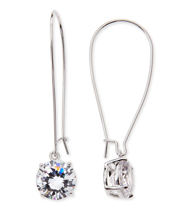 Crystal Wire Drop Earrings