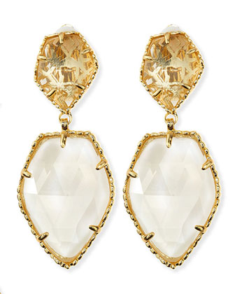 Selma Faceted Clip-On Earrings, Crystal