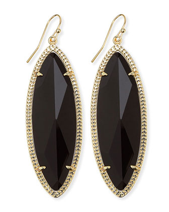 Jessa Marquise Earrings, Black