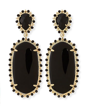 Parsons Clip-On Earrings, Black