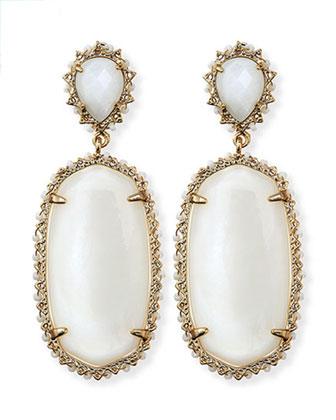 Parsons Clip-On Earrings, White