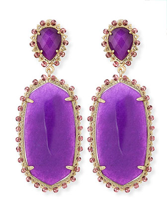 Parsons Clip-On Earrings, Purple
