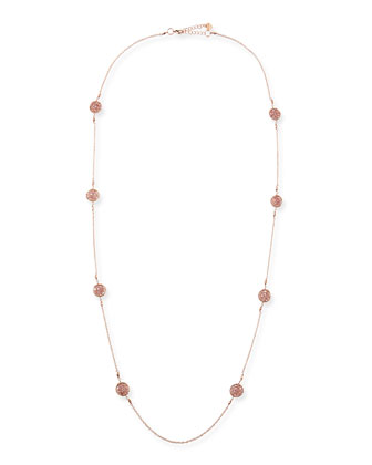 Rose Golden Beaded Station Necklace