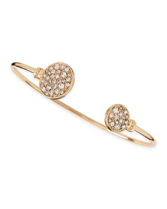Golden Crystal Circle Cuff Bracelet