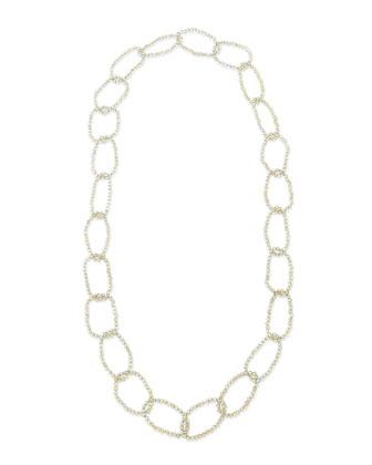 Smoky Crystal Link Necklace