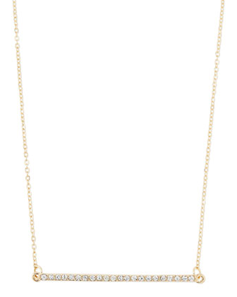 Golden Crystal Bar Station Necklace