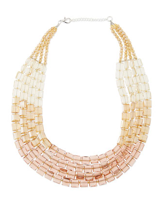 Multi-Strand Ombre Crystal Necklace