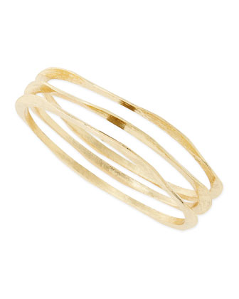 Set of Three Golden Brushed Bangles