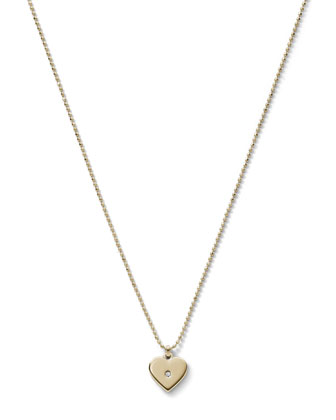 Heart Charm Necklace, Golden