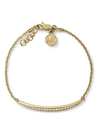 Matchstick Line Bracelet, Golden