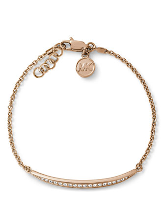 Matchstick Line Bracelet, Rose Golden