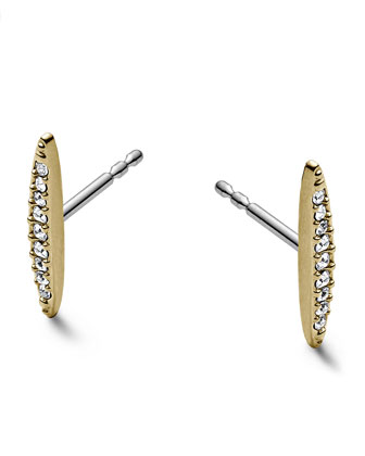 Matchstick Post Earrings, Golden