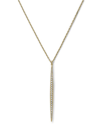 Matchstick Charm Necklace, Golden