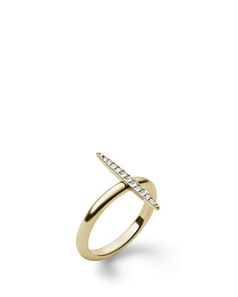 Pave Matchstick Ring, Golden