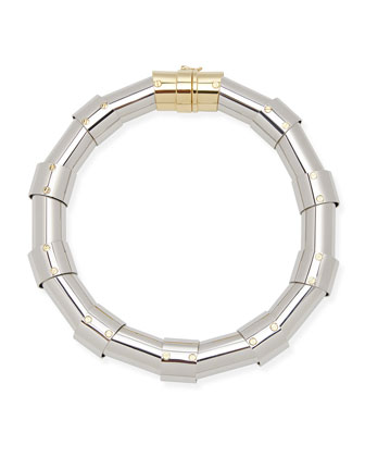 Silvertone Tube Necklace