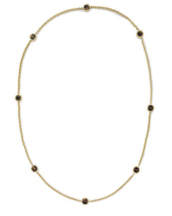 Long Tortoise Station Necklace, Golden