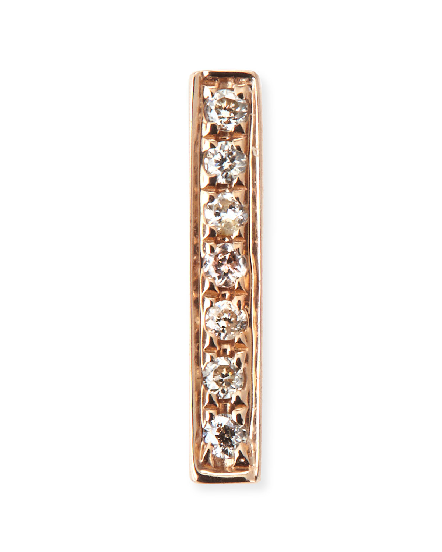 14k Yellow Gold Diamond Bar Single Stud Earring   Sydney Evan   Rose gold (14k )