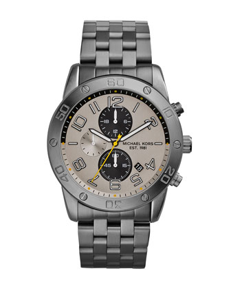 Men's Gunmetal Stainless Steel Mercer Chronograph Watch