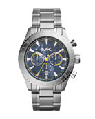 Men's Silver Color Stainless Steel Richardson Chronograph Watch