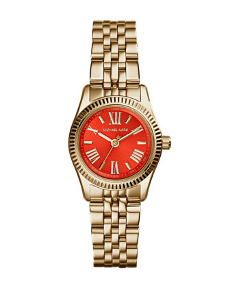 Petite Golden Stainless Steel Lexington Three-Hand Watch
