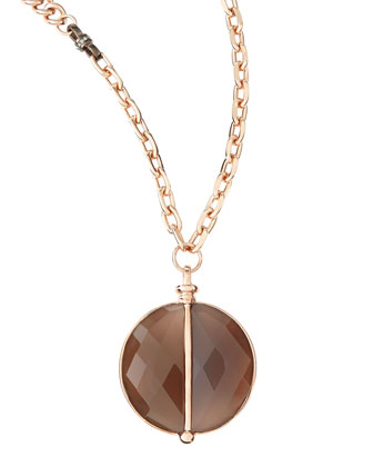 14k Gold Plate & Agate Necklace, 38