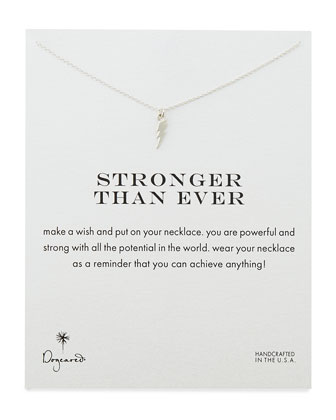 Stronger Than Ever Silver-Plated Necklace