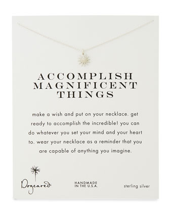 Accomplish Magnificent Things Silver-Plated Necklace