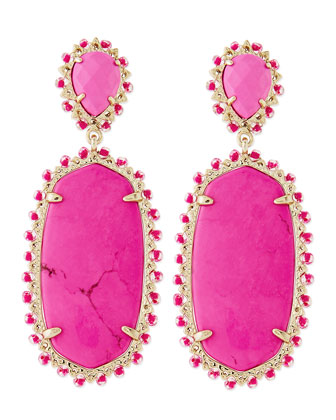Parsons Clip-On Earrings, Magenta