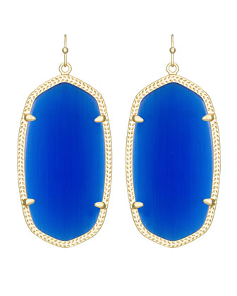 Danielle Earrings, Blue Glass