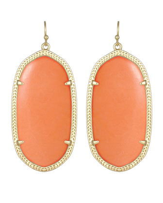 Danielle Earrings, Salmon Magnesite