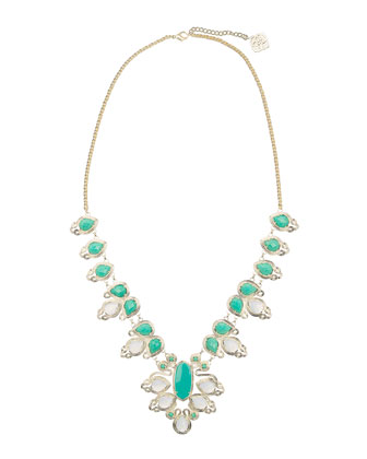 Turquoise & Translucent Tedi Necklace