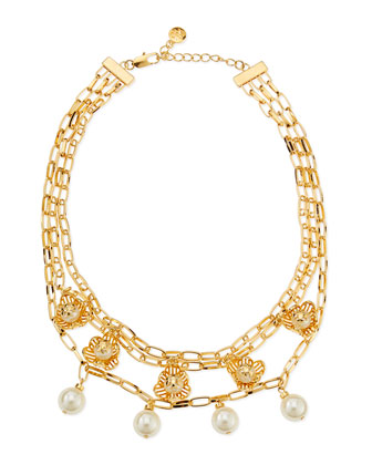 Golden Cara Short Flower Necklace