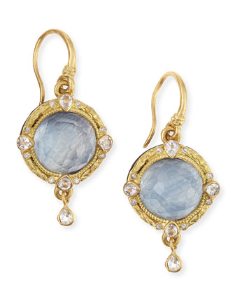 Old World Midnight 18k Gold Earrings with Kyanite & Diamonds