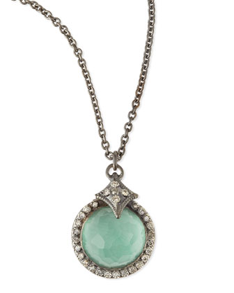 New World Quartz/Green Turquoise Pendant Necklace