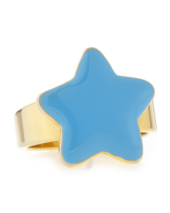 Star Ring, Gold/Blue