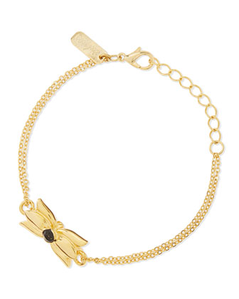 Tulip Chain Bracelet, Gold/Black