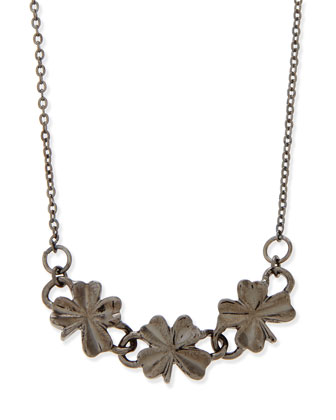 Shamrock Necklace, Gunmetal
