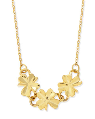 Shamrock Necklace, Gold