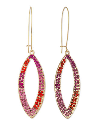 Pave Loop Dangle Drop Earrings