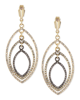 Deco Triple Pave Earrings