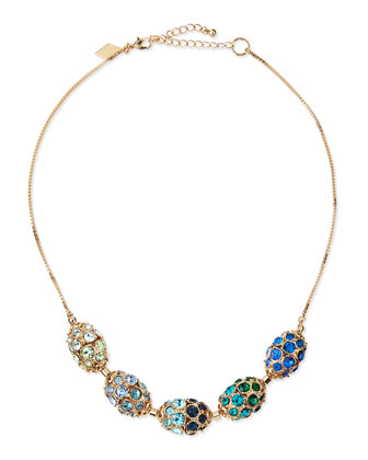 Pave Cluster Necklace