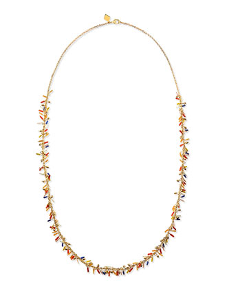 Long Delicate Seed Bead Necklace