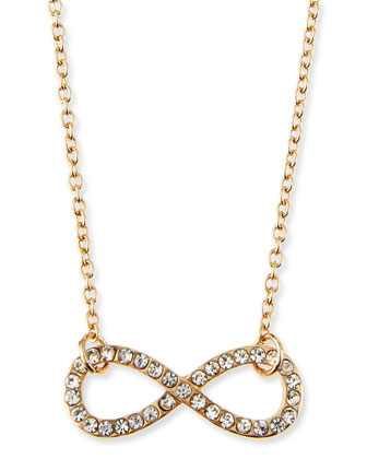 Infinity Charm Pave Crystal Necklace