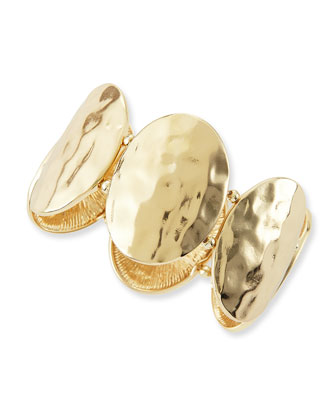 Oval Turtle Shell Bracelet, Golden
